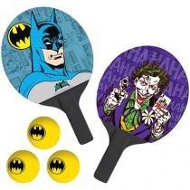 Raquete Tênis de Mesa Bel Fix Batman - 2 Peças com Bolinhas