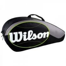 Raqueteira Wilson Match 6 Preta e Cinza - Wilson