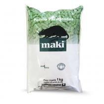Raticida Maki Pellets Parafinado 25 g - Pacote com 40 - Nitrosin