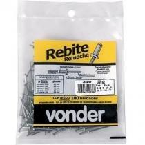 Rebite de repuxo 3,2 x 10 mm embalagem com 100 peças - VD310 - Vonder