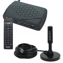 Receptor Conversor Tv Digital Full Hd Função Gravador Usb Hdmi Rca Amvox ACD 311 com Antena 4Dbi - Amvox/exbom
