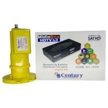 Receptor Digital Midia Box B3 Com Lnbf Multiponto Super Digital - Century -