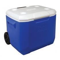 Recipiente Termoplástico com Rodas 60QT 56,7 Litros Azul - Coleman - Coleman