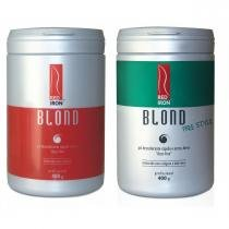 Red Iron Blond Pó Descolorante Forte + Red Iron Blond Free Style Pó Descolorante Extra Forte 2x 400g -