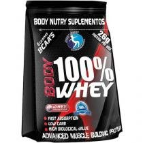 Refil Body 100% Whey Protein 900g Banana e Morango - Body Nutry