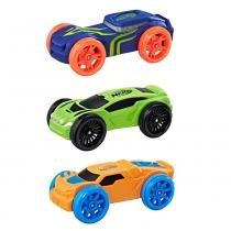 Refil Nerf Nitro com 03 Carrinhos de Espuma - Azul, Verde e Laranja - Hasbro -