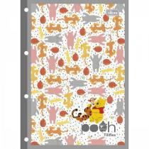 Refil para caderno argolado universitário pooh - 80 folhas - Tilibra