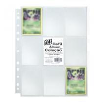 Refil Plástico para Cartões- 10 unidades - 9 Bolsos - Yes