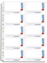 Refil Porta Cartões Chies Jumbo com aderência - Cristal Liso - 10 unidades 1694-7 -