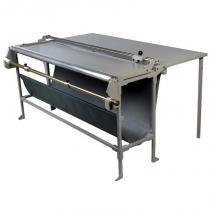 Refiladora duplo eixo 106 cm com desbobinador e mesa para papel, lona e vinil adesivo Excentrix -