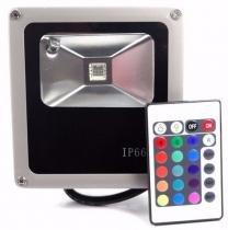 Refletor 10w RGB LED Holofote Bivolt Colorido - Ddy