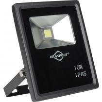 Refletor de LED 10W 6500K Slim Bivolt Preto - Brasfort - Brasfort