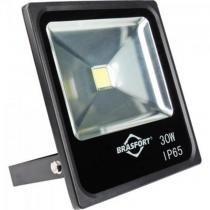 Refletor de LED 30W 6500K Slim Bivolt Preto - Brasfort - Brasfort