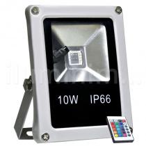 Refletor Holofote LED 10w RGB Colorido c/ Controle - Iluminim led