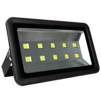 Refletor Holofote LED 500w Branco Frio Preto - Iluminim led