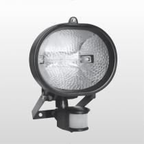 Refletor Oval Com Sensor Hálogeno 150w 6016 Bivolt Preto Key West - DNI