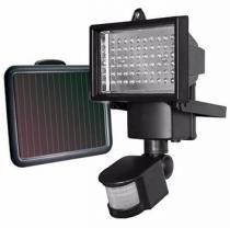 Refletor Solar De 60 Leds Com Sensor De Movimento Holofote Painel Solar (BSL-HEL-6) - Braslu