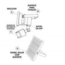 Refletor Solar Ecoforce 800 Lúmens com Sensor - Ecoforce