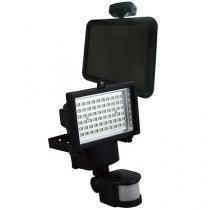 Refletor Solar Ecoforce LED 60 LEDs - Luz Branca Com Sensor de Presença Até 12Mts
