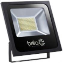 Refletor Superled Ourolux Slim 100w Preto Bivolt - 6500K -