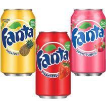 Refrigerante Fanta  3 em 1 - Pineaple + Strawberry + Fruit Punch -