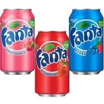 Refrigerante Fanta  3 em 1 - Strawberry + Berry +Fruit Punch -