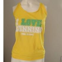 Regata Feminina I LOVE RUNNING - Amarela Tamanho M - Roupas diversas