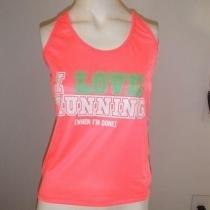 Regata Feminina I LOVE RUNNING - Pink Neon Tamanho G - Roupas diversas