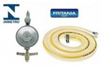 Registro Botijão Gás 1,25cm Mangueira Inmetro - Fritania