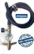 Registro gás completo fogão alta pressão manômetro 5,0m 6417 - Fritania