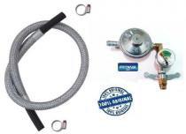 Registro valvula botijão imar manometro 1,2m mang aço 6298 - Fritania