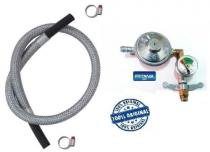 Registro valvula botijão imar manometro 4,0m mang aço 6303 - Fritania