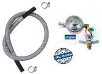 Registro valvula botijão imar manometro 5,0m mang aço 6304 - Fritania