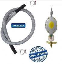 Registro válvula gás botijão manômetro medidor 3,0 m mangueira - Fritania