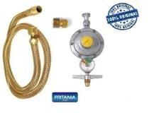 Registro válvula gás botijão manômetro medidor mangueira 5,0 - Fritania