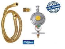 Registro válvula gás botijão manômetro medidor mangueira 8,0 - Fritania