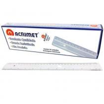 Régua 20cm Cx 24 Unidades Acrimet - Cristal -
