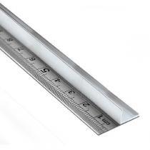 Régua de aço 60 cm com protetor para as mãos em alumínio - Metric do brasil