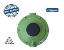 Regulador de gás industrial baixa pressão verde aliança 1750 - Fritania