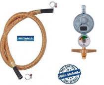 Regulador gás aliança 1kg manômetro + mang cobre 1,2 m 6695 - Fritania