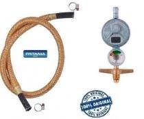 Regulador gás aliança 1kg manômetro + mang cobre 1,5 m 6696 - Fritania