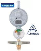 Regulador Registro De Gás Aliança Com Manômetro 505/1 C 6645 - Fritania
