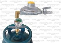 Regulador Registro Gás Aliança 2k Horizontal Manômetro C2033 - Fritania