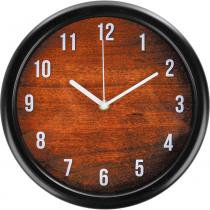 Relógio 26cm Redondo Grande Cazza Madeira -