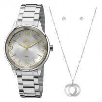 92415b46fb0 Relógio Allora Kit Feminino Al2035fat k3k