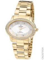 Relógio analógico feminino champion com conjunto de colar e brinco cn28795w -
