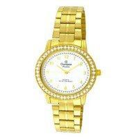 Relógio analógico feminino champion com conjunto de colar e brinco cn28802w -