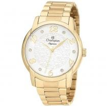 Relógio analógico feminino champion dourado cn26224h - champion
