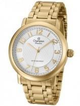 Relógio analógico feminino champion dourado cn26377h - champion