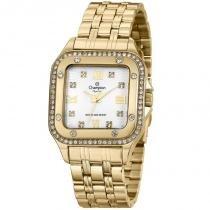 Relógio analógico feminino champion dourado cn27321h - champion